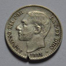 Monedas de España: ESPAÑA 50 CENTIMOS 1885 MS.M MADRID *(8-6) ALFONSO XII. Lote 35910610