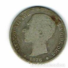 Monedas de España: ALFONSO XII AÑO 1976-UNA PESETA PLATA. Lote 109298195