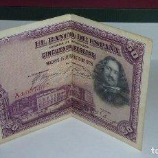 Monedas de España: ESPAÑA - 50 PESETAS DEL AÑO 1928 - SERIE A - VELÁZQUEZ. Lote 109396323