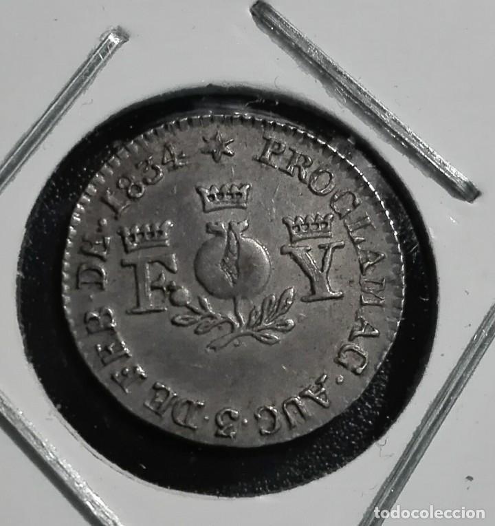 MONEDA PROCLAMACION ISABEL II GRANADA 1834 (Numismática - España Modernas y Contemporáneas - De Isabel II (1.834) a Alfonso XIII (1.931))