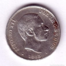 Monedas de España: ESPAÑA 50 CENTAVOS DE PESO PLATA 1885 ALFONSO XII MANILA (ISLAS FILIPINAS). Lote 110445639