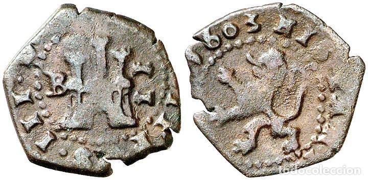 2 Maravedis de Felipe III, Burgos. 110670383