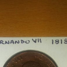 Monedas de España: MONEDA ESPAÑOLA 8 MARAVEDÍ FERNANDO VII. 1818. Lote 110880684