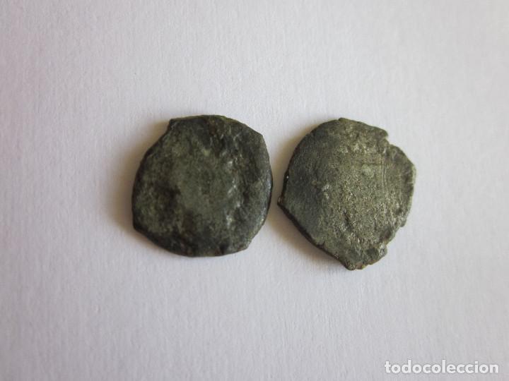 2 DINEROS. VALENCIA. GERMANÍAS Y FELIPE II. RAROS. (Numismática - España Modernas y Contemporáneas - De Reyes Católicos (1.474) a Fernando VII (1.833))