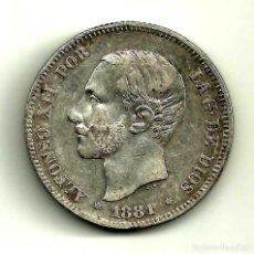 Monedas de España: ALFONSO XII. 2 PESETAS DE 1881*(1--81) MADRID MS-M (BC+). Lote 119934082
