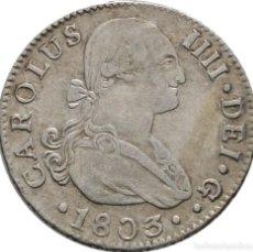 Monedas de España: CARLOS IV! 2 REALES! 1803 SEVILLA PLATA! 23 MM // 5.7G EBC. Lote 111432879