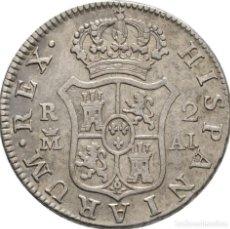 Monedas de España: CARLOS IV. 2 REALES MADRID. 1808! PLATA! 23 MM // 5.9 G EBC-. Lote 111443423