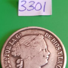 Monedas de España: 20 CENTIMOS DE PESO. ISABEL II-FILIPINAS. Lote 111868375