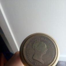 Monedas de España: 20 REALES PLATA ISABEL II MONTADOS EN BASTÓN. Lote 111960026