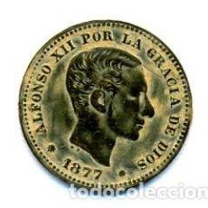 Monedas de España: BELLISIMOS 5 CTMS DE ALFONSO XII EBC+. Lote 112248427