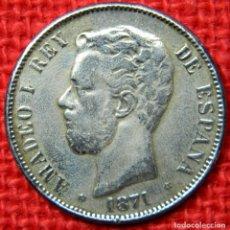 Monedas de España: ESPAÑA - AMADEO I DE SABOYA - 5 PESETAS - 1871 *73 - 21 GRAMOS. IGNORO SI ES ORIGINAL. Lote 112255187