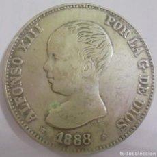 Monedas de España: MONEDA. 5 PESETAS. 1888. ALFONSO XIII. M.S.M. VER FOTOS. Lote 112322491
