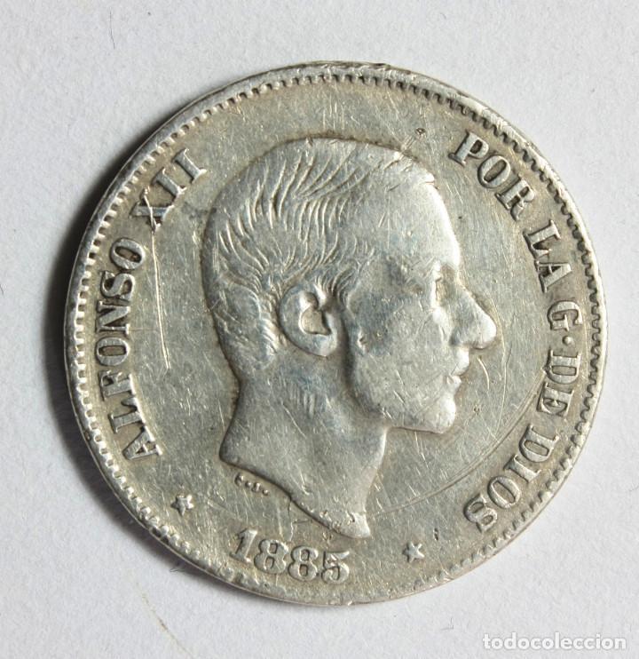 ALFONSO XII 50 CENTAVOS DE PESO 1885 * FILIPINAS * PLATA (Numismática - España Modernas y Contemporáneas - De Isabel II (1.834) a Alfonso XIII (1.931))