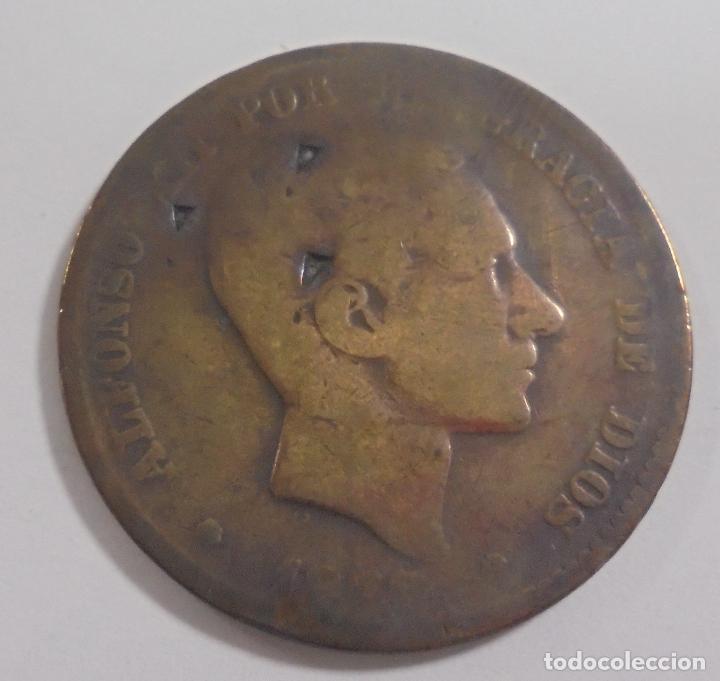 MONEDA. 10 CENTIMOS. 1878. ALFONSO XII. VER (Numismática - España Modernas y Contemporáneas - De Isabel II (1.834) a Alfonso XIII (1.931))
