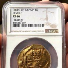 Monedas de España: ¡¡ MUY RARA !! 8 ESCUDOS DE FELIPE IV. (1630-1659) CECA DE SEVILLA. NGC XF-40. Lote 112994875