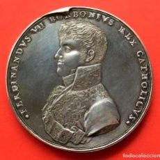Monedas de España: ¡¡ RARA !! MEDALLA DE PLATA DE LA PROCLAMACION DE FERNANDO VII EN MEXICO. 1809. Lote 113025355
