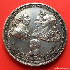 Monedas de España: ¡¡ MUY RARA !! MEDALLA DE PLATA. PROCLAMACION CARLOS III. AÑO 1784. 139 GRS!!!. Lote 113025963