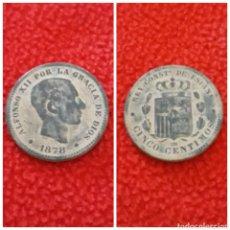 Monedas de España: MONEDA ALFONSO XII 5 CENTIMOS 1878 BARCELONA OM. Lote 113336352