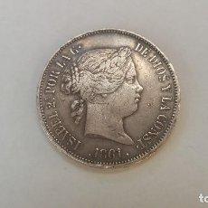 Monedas de España: 20 REALES ISABEL II AÑO 1861 MADRID. Lote 113342735