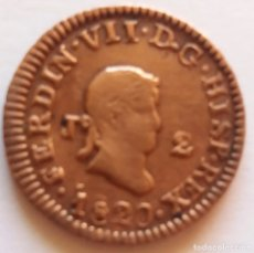 Monedas de España: FERNANDO VII 1820 2 MARAVEDIS. Lote 113965315