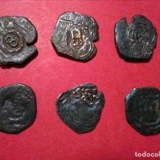 Monedas de España: LOTE DE SEIS RESELLOS DE LOS AUSTRIAS. MODULOS DE 8 MARAVEDÍS. . Lote 114205779