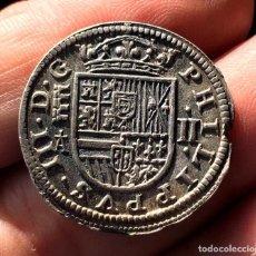 Monedas de España: ¡¡ RARA !! 2 REALES DE FELIPE III. AÑO 1621/08. CECA DE SEGOVIA. A SIN CIRCULAR!!. Lote 114259231