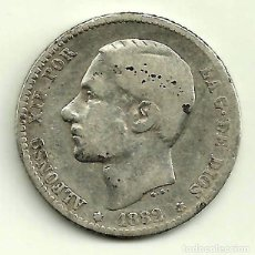 Monedas de España: ALFONSO XII. 1 PESETA DE 1882*(---82) MADRID MS-M (BC) PLATA. Lote 114357939