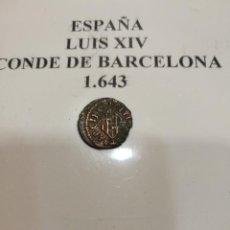 Monedas de España: MONEDA LUIS XIV CONDE DE BARCELONA 1643. Lote 114385959