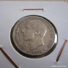 Monedas de España: ESPAÑA 1 PESETA 1885 ALFONSO XII- MONEDA DE PLATA, MSM. Lote 124192516