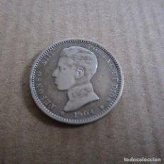 Monedas de España: MONEDA 1 PESETA. ALFONSO XIII. AÑO 1904. ESTRELLAS 19 04. SMV. ESPAÑA. PLATA.. Lote 114462215