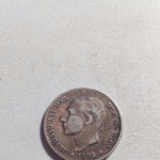 Monedas de España: MONEDA DE PLATA ALFONSO XII 50'CÉNTIMOS. Lote 115289854