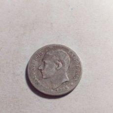 Monedas de España: MONEDA DE PLATA ALFONSO XII 50 CÉNTIMOS. Lote 115290152