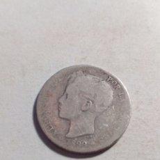Monedas de España: UNA PESETA DE PLATA ALFONSO XII. Lote 115290474