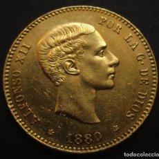 Monedas de España: 25 PESETAS 1880 *18*-*80* MS.M ALFONSO XII -AU-. Lote 102946471