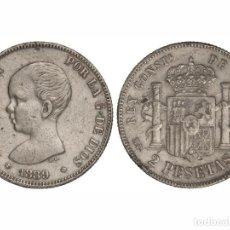 Monedas de España: ALFONSO XIII. 2 PESETAS. 1889 (*18-89). M.P.-M. EBC- PLATA. Lote 115300039