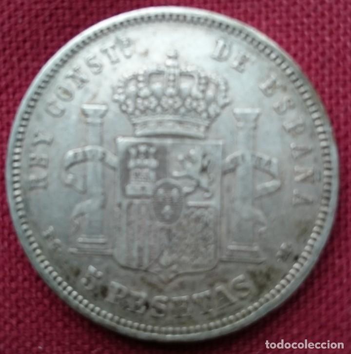 Monedas de España: Cinco pesetas plata Alfonso XIII 1892 - Foto 2 - 115376271