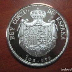 Monedas de España: PRECIOSA MONEDA DE UNA ONZA DE PLATA 999 CONMEMORATIVA DE ALFONSO XIII SOLO 500 UNID, BRILLO ESPEJO. Lote 115690311