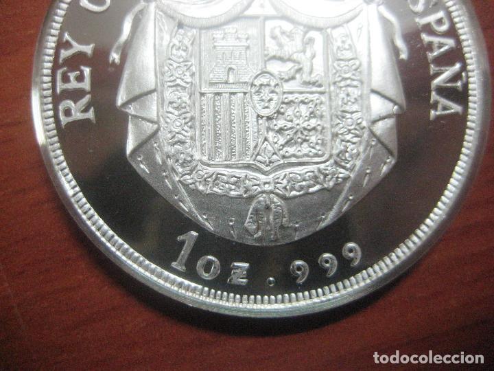 Monedas de España: PRECIOSA MONEDA DE UNA ONZA DE PLATA 999 CONMEMORATIVA DE ALFONSO XIII SOLO 500 UNID, BRILLO ESPEJO - Foto 3 - 115690311