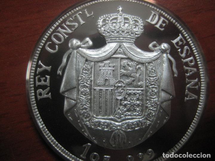 Monedas de España: PRECIOSA MONEDA DE UNA ONZA DE PLATA 999 CONMEMORATIVA DE ALFONSO XIII SOLO 500 UNID, BRILLO ESPEJO - Foto 4 - 115690311