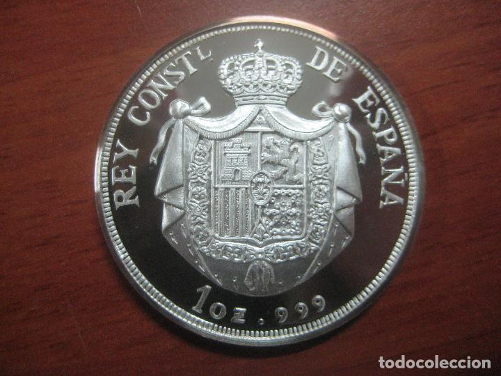 Monedas de España: PRECIOSA MONEDA DE UNA ONZA DE PLATA 999 CONMEMORATIVA DE ALFONSO XIII SOLO 500 UNID, BRILLO ESPEJO - Foto 7 - 115690311