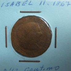 Monedas de España: 1/2 CÉNTIMO DE ESCUDO. ISABEL II. 1867. Lote 116082895