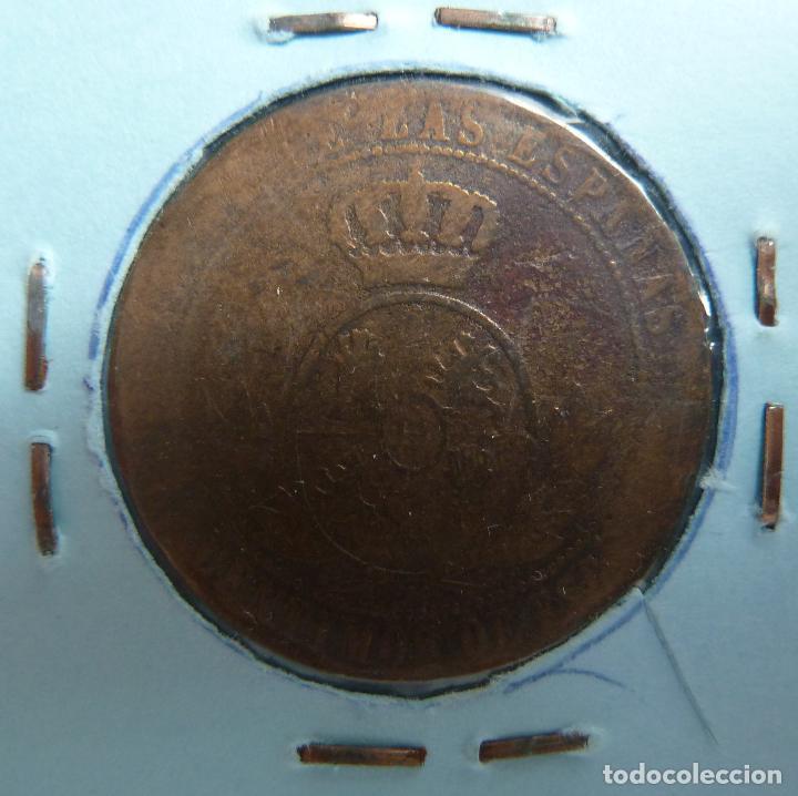 Monedas de España: 1/2 CÉNTIMO DE ESCUDO. ISABEL II. 1867 - Foto 2 - 116082895