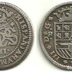 Monedas de España: 2 REALES 1709 BARCELONA - CARLOS III PRETENDIENTE - MBC. Lote 116117759