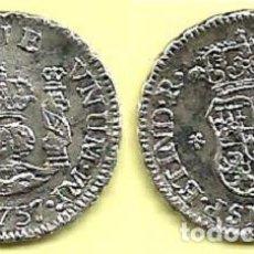 Monedas de España: 1/2 REAL DE FERNANDO VI - 1757 LIMA JM - COLUMNARIO - EBC-. Lote 116122439