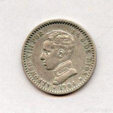 Monedas de España: MONEDA DE PLATA 50 CÉNTIMOS ALFONSO XIII 1904-1-0. Lote 116147331