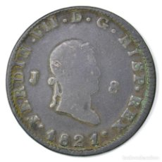 Monedas de España: 8 MAREVEDIS 1821 JUBIA FERNANDO VII ESPAÑA FERDINAND VII SPAIN SPANISH. Lote 116226555