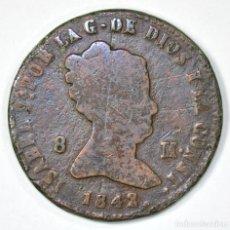 Monedas de España: 1842 8 MARAVEDÍS SEGOVIA ISABEL II ESPAÑA SPAIN SPANISH. Lote 116226915