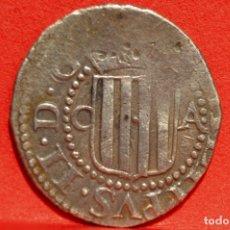 Monedas de España: FELIPE III ½ MEDIO REAL 1612 ZARAGOZA RARA PLATA ESPAÑA. Lote 53590297