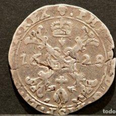 Monedas de España: ¼ CUARTO DE PATAGÓN 1628 BRUSELAS PLATA ESPANA FELIPE IV. Lote 60200447