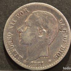 Monedas de España: 50 CÉNTIMOS 1881 *8 *1 M.SM ALFONSO XII ESPAÑA PLATA . Lote 58496812